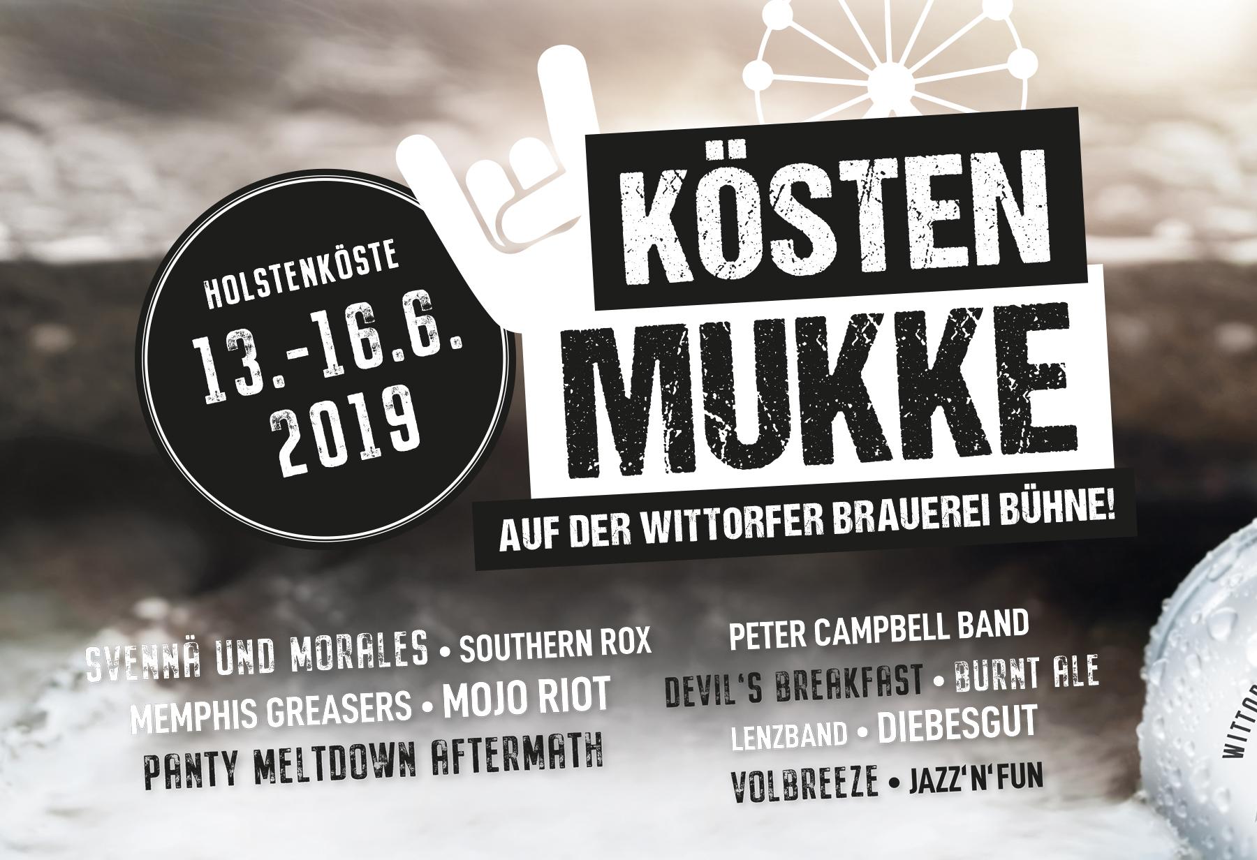 DAS LINE-UP ZUR KÖSTENMUKKE 2019!